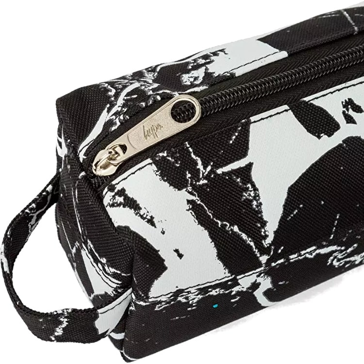 Hype Marble Pencil Case - Black/White