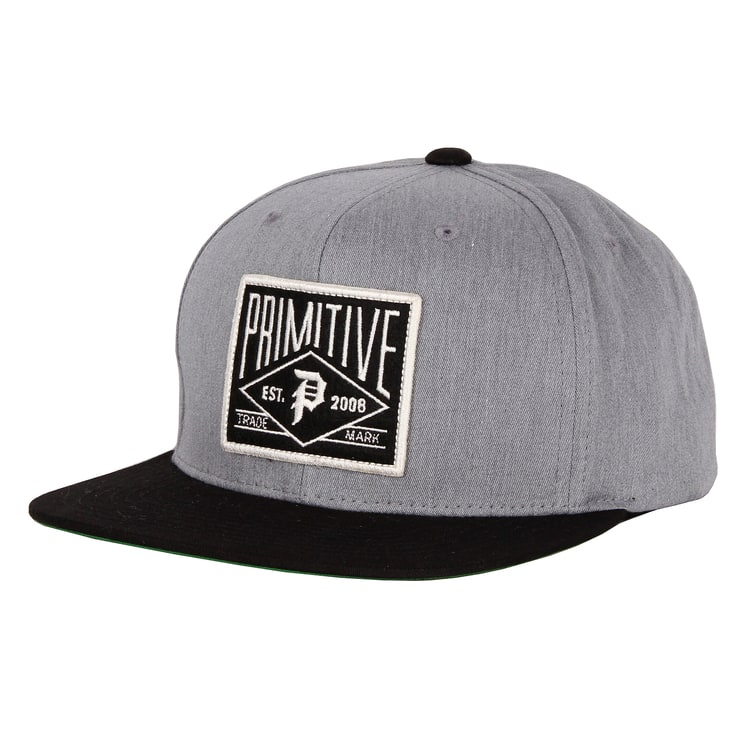 Primitive Slugger Snapback Cap - Grey Heather