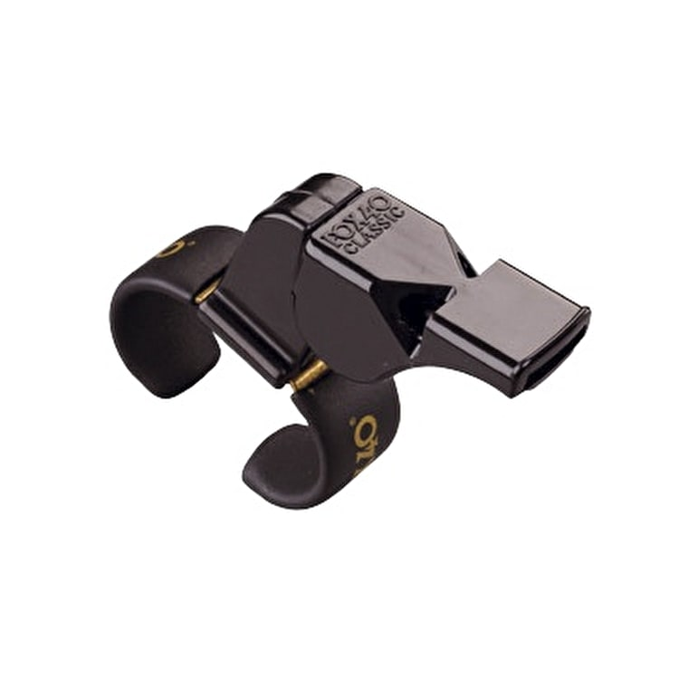 Fox 40 Classic Finger Grip Whistle- Black
