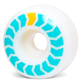 Wayward Chevron Skateboard Wheels - Aqua/Yellow 51mm