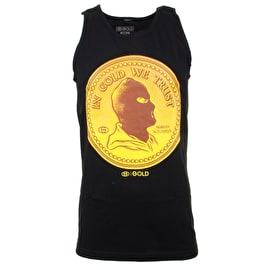 Gold Coin Tank Top - Black