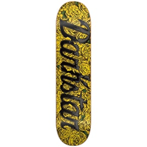 Darkstar Roses HYB Skateboard Deck - Yellow 8.125