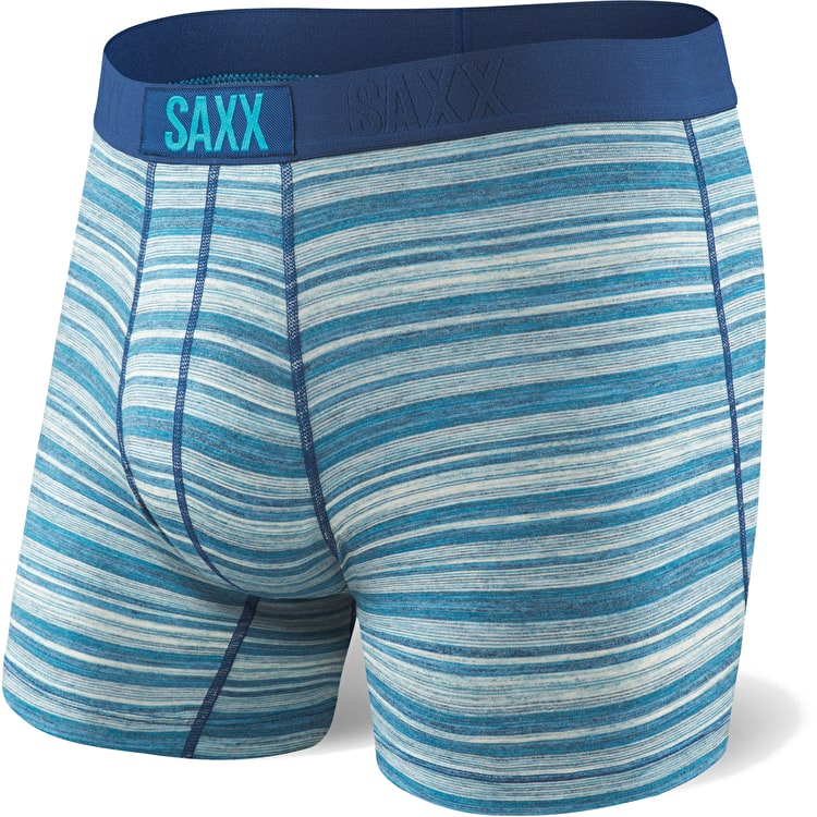 Saxx Vibe Boxers - Miami Heather Stripe