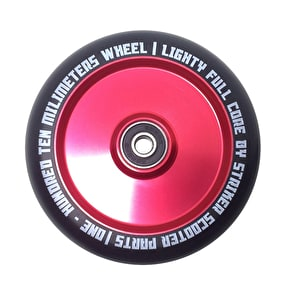 Striker 110mm Lighty Full Core Scooter Wheels - Red