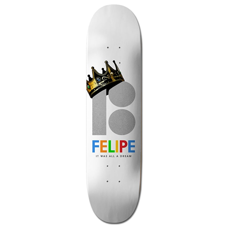 Plan B Felipe Royalty BLK ICE Skateboard Deck - 8.25""