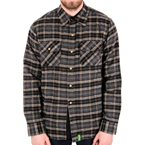 Creature Angler Longsleeve Shirt - Black Plaid