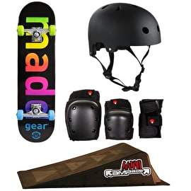 Madd Gear Skateboard/Mini Ramp Bundle