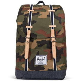 Herschel Retreat Backpack - Woodland Camo/Dark Denim