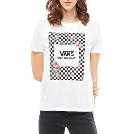 Vans Boxed Rose Checks Womens T-Shirt - White