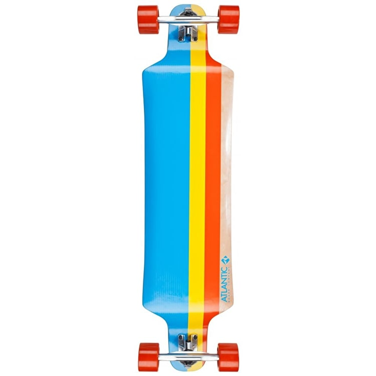 Atlantic Drop Down Longboard - Titan Blue/Yellow/Red 40""