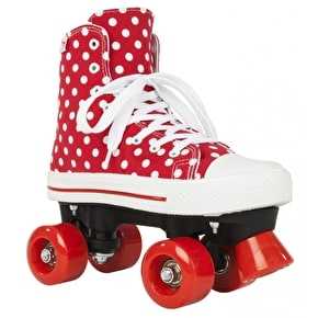 B-Stock Rookie Quad Skates - Canvas High Polka Dot Red/White UK 3 (Box Damage)