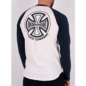 Independent TC Longsleeve Baseball T-Shirt - Navy/White
