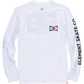Element Segment Long Sleeve T Shirt - Optic White