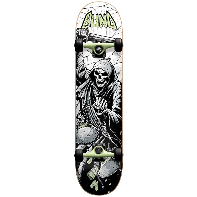 Blind Justice Premium Youth Complete Skateboard - Green 7.25""
