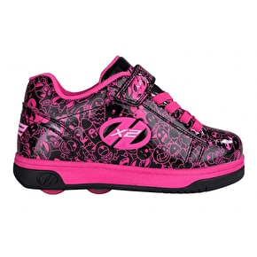 Heelys X2 Dual Up - Black/Hot Pink/Graphic