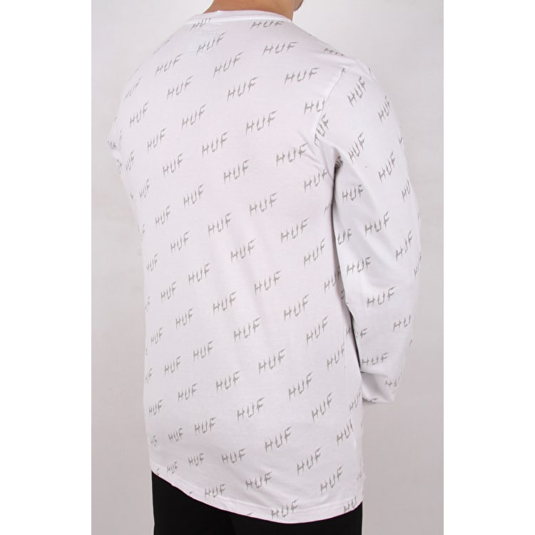 Huf Bolt All-Over Long Sleeve T shirt - White