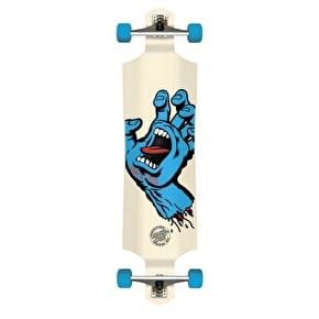 Santa Cruz Screaming Hand Drop Down Complete Longboard - White 40