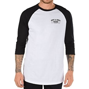 Vans Roll Em Raglan T-Shirt - White/Black
