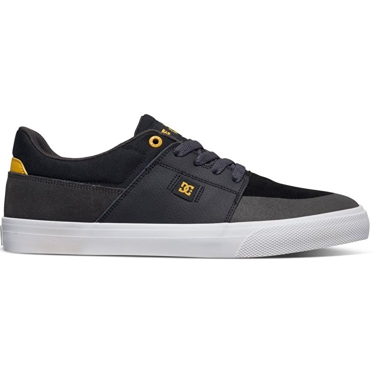 DC Wes Kremer Skate Shoes - Black/Grey/Yellow