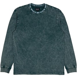 RIPNDIP MBN Jacquard Knit Long Sleeve T Shirt - Green Mineral Wash