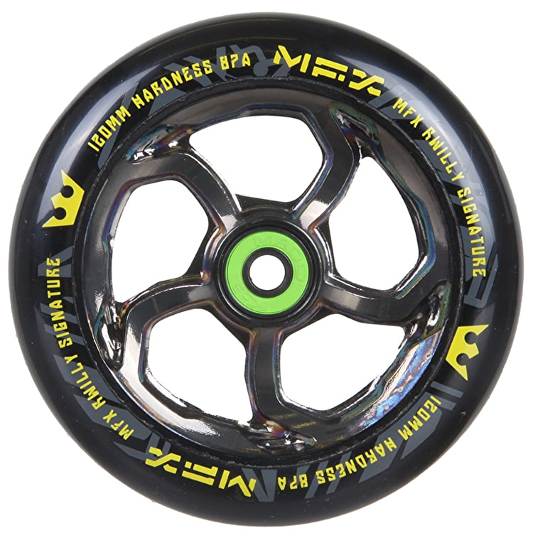 MGP MFX Hurricane Scooter Wheel - R Willy Signature 120mm Nickel