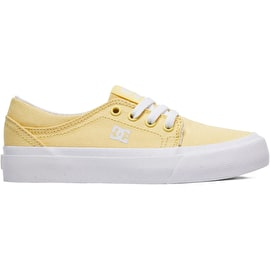 DC Trase TX SE Girls Skate Shoes - Pale Banana