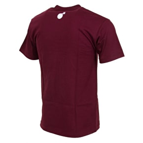 The Hundreds Forever Slant Crest T-Shirt - Burgundy