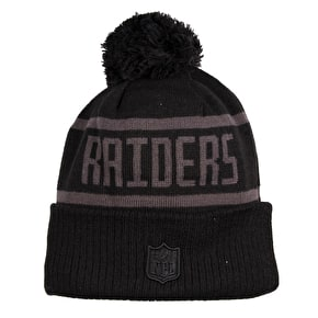 New Era NFL Black Collection Beanie - Oakland Raiders