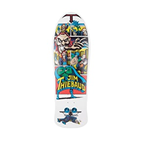 Santa Cruz Thiebaud Joker Reissue Skateboard Deck - White w/Metallic Art 10