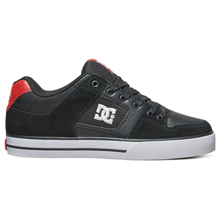 DC Pure Skate Shoes - Black/Athletic Red