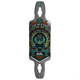 Restless Longboard Deck - Splinter Series Crest 35