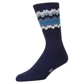 WeSC Knitted Socks - Navy Blazer - 3 Pack - Medium