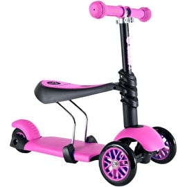 Y-Volution Y Glider 3 In 1 Complete Scooter - Black/Pink