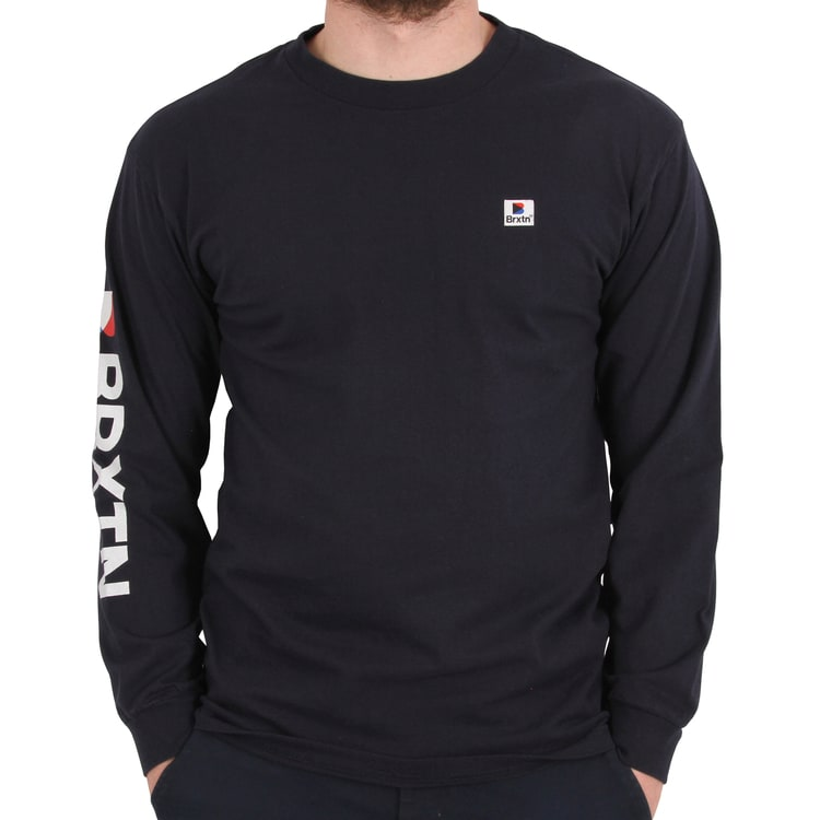 Brixton Stowell Long Sleeve T shirt - Navy