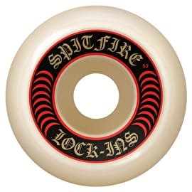 Spitfire Formula Four Lock Ins 101D Skateboard Wheels - Red 52mm (Pack of 4)