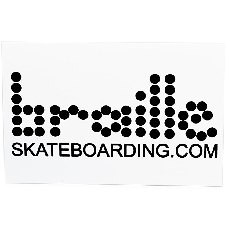 Braille Classic Skateboard Sticker