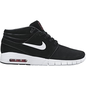 Nike SB Stefan Janoski Max Mid L Shoes - Black/White/University Red