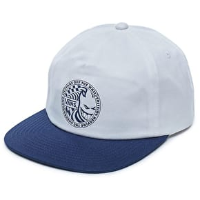 Vans X Spitfire Shallow Unstructured Snapback Cap - Dress Blues/White
