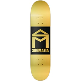 Sk8 Mafia House Logo Double Dip Skateboard Deck - Gold 8