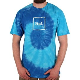 Huf Box Logo Tie Dye T Shirt - Twilight Blue