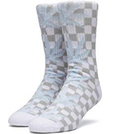 Huf Checkered Plantlife Socks - White