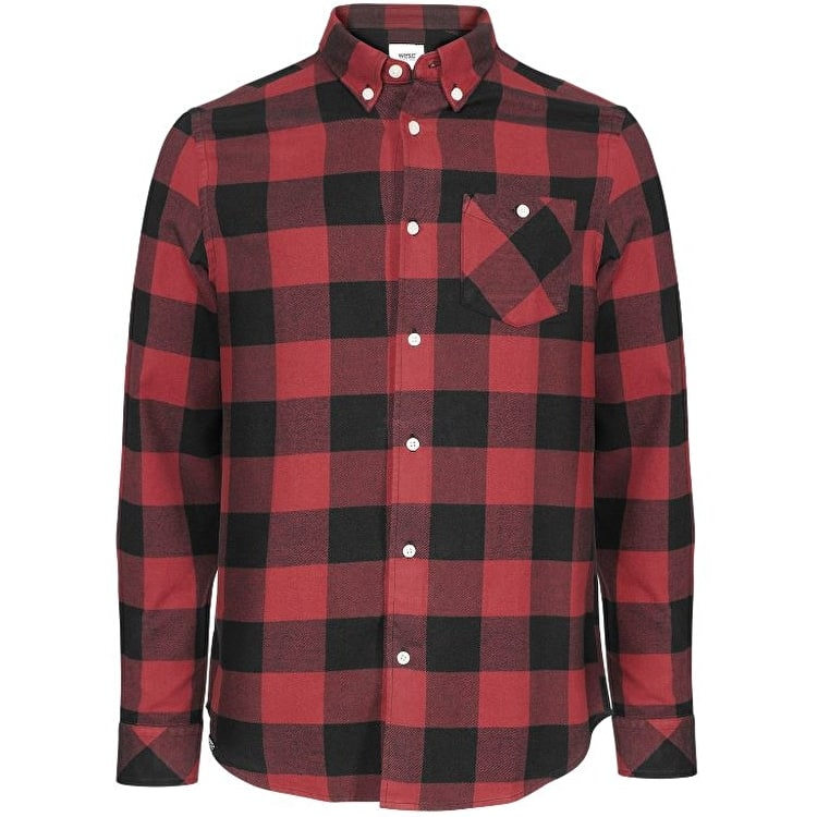 WeSC Olavi Long Sleeve Shirt - Candy Apple
