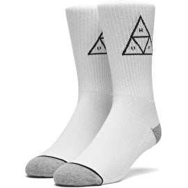 Huf Triple Triangle Crew Socks - White