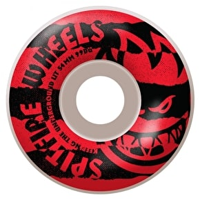 Spitfire Shredded Red Skateboard Wheels - 54mm