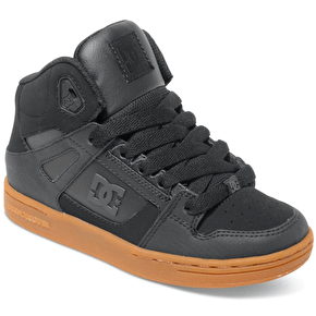 DC Rebound SE Kids Shoes - Black/Gum