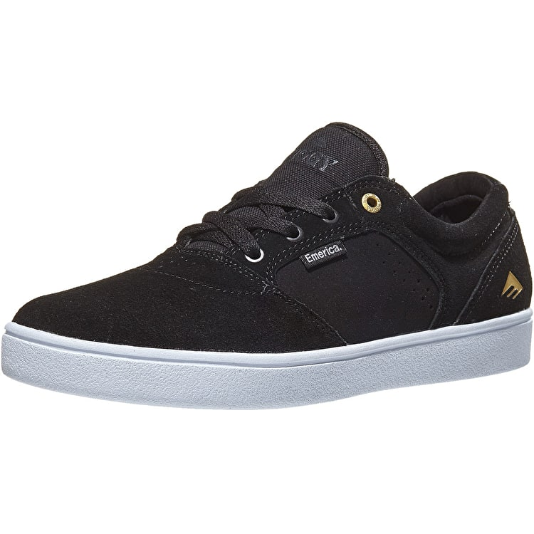 Emerica Figgy Dose Skate Shoes - Black/White