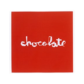 Chocolate Red Square Sticker - 2