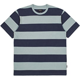 Brixton Corwin Washed Knit T-Shirt - Navy/Smoke Blue