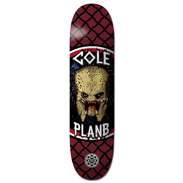 Plan B Cole Savages BLK ICE Skateboard Deck - 8.5""