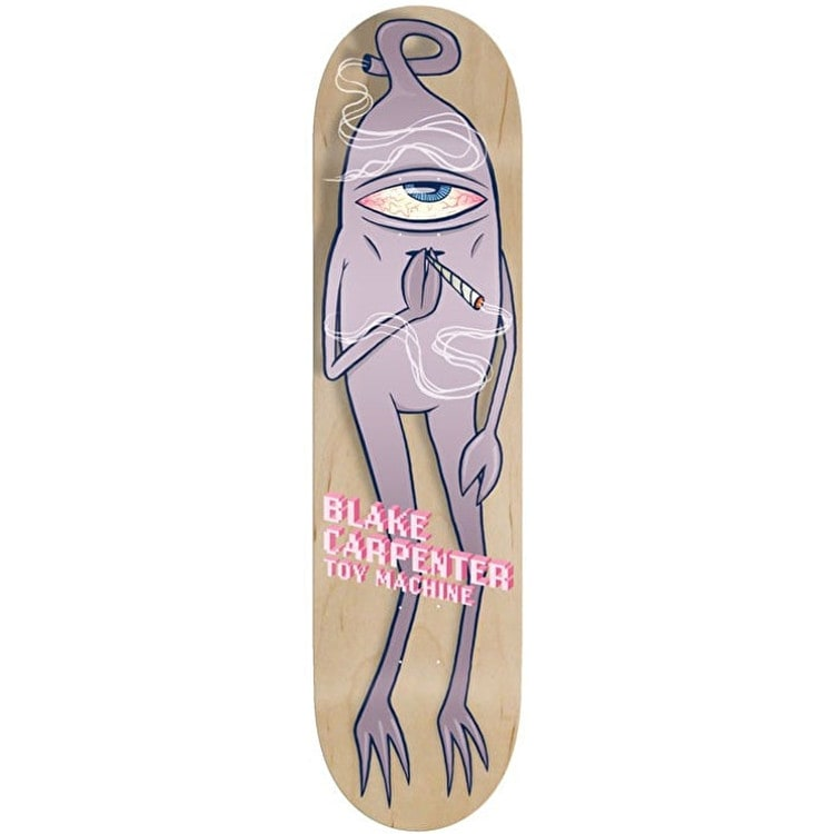 Toy Machine Carpenter Smoke Em Skateboard Deck - 8.0""